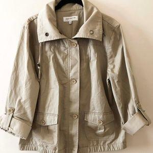 Jones New York Sport Khaki Utility Jacket